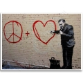 Street Art Poster - Peace and Love Doctor